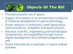 objects of the bill