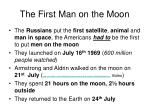 the first man on the moon