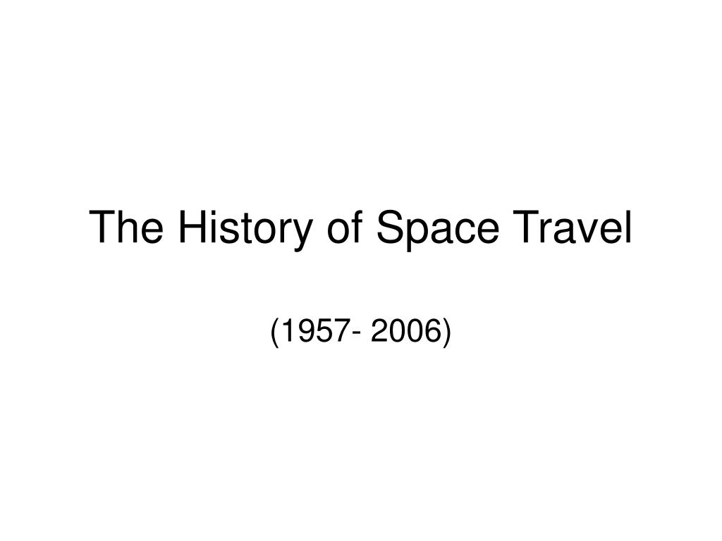 the history of space travel l.