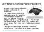 very large antennas rectennas cont