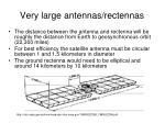 very large antennas rectennas