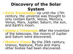 discovery of the solar system