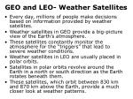 geo and leo weather satellites
