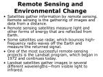 remote sensing and environmental change