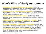 who s who of early astronomy