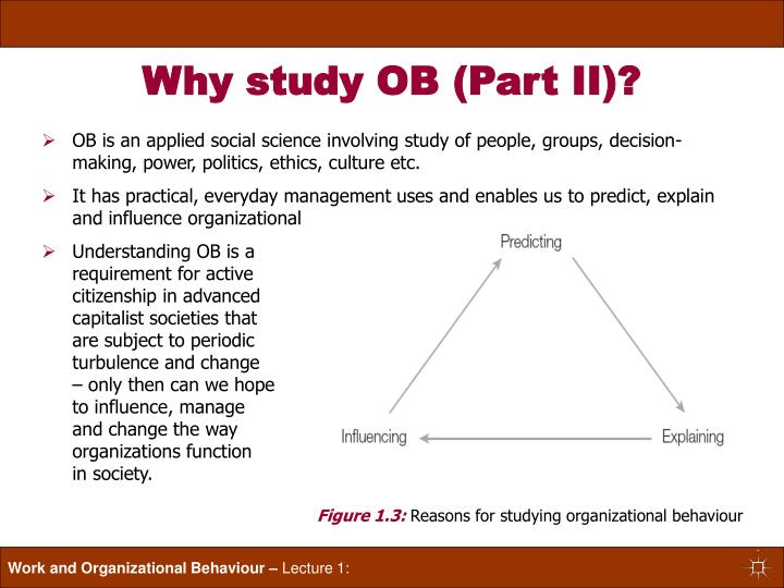 what are the benefits of studying organizational behavior