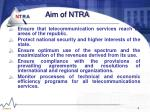aim of ntra