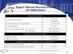egypt s telecom structure in brief q1 2004 cont19