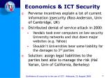 economics ict security