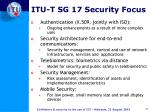 itu t sg 17 security focus