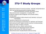 itu t study groups