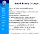 lead study groups