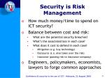 security is risk management