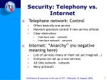security telephony vs internet