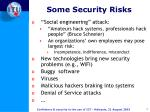 some security risks