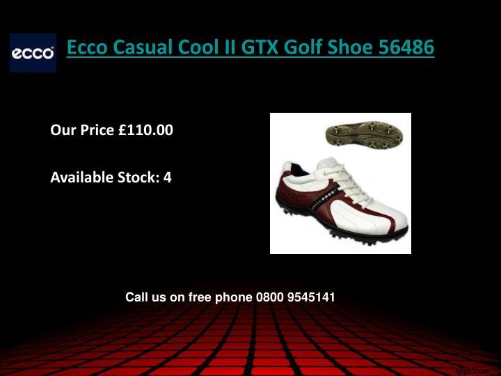 Ecco casual cool ii gtx golf shoe 56486
