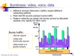 burstiness video voice data