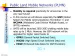 public land mobile networks plmn