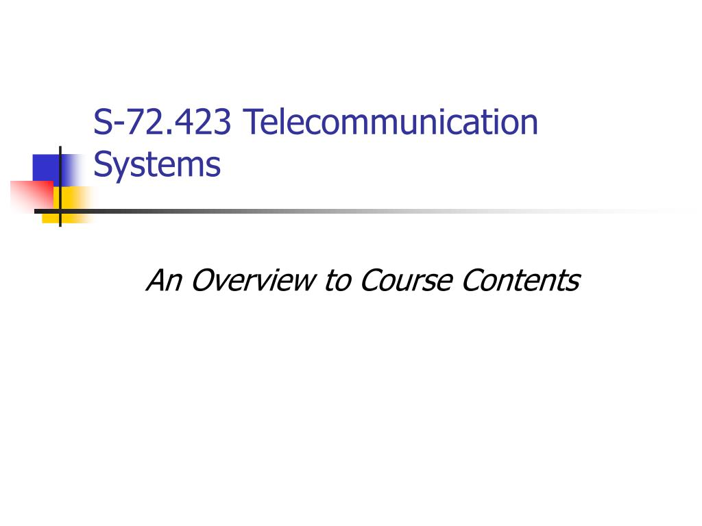 s 72 423 telecommunication systems l.