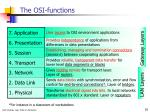 the osi functions