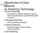 classification of data networks by switching technology
