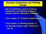 technical committees and working groups