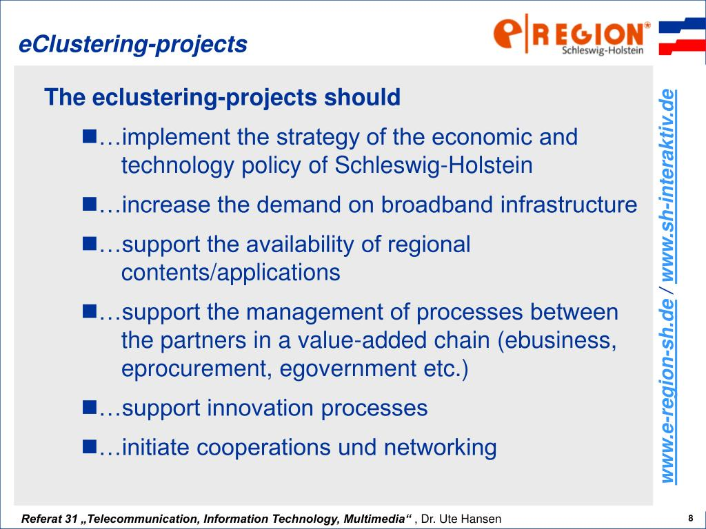 eClustering-projects