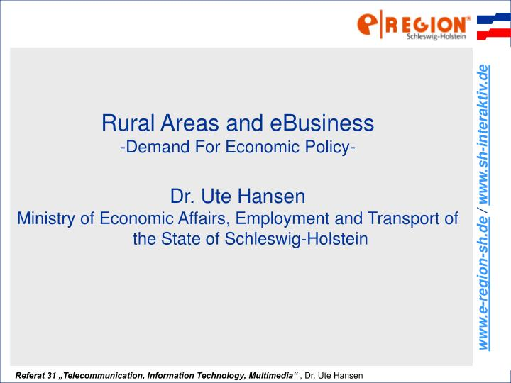 Rural Areas and eBusiness