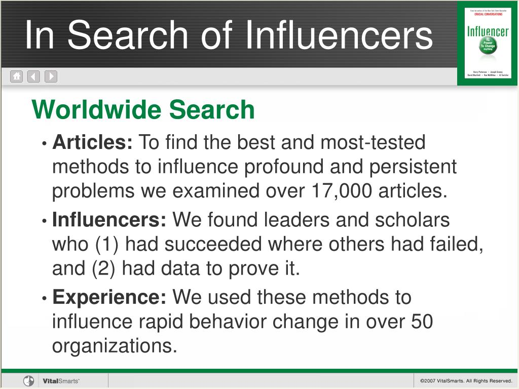 In Search of Influencers