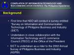 compilation of information technology and telecommunication statistics the philippine experience2