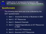 compilation of information technology and telecommunication statistics the philippine experience22