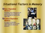 situational factors in memory
