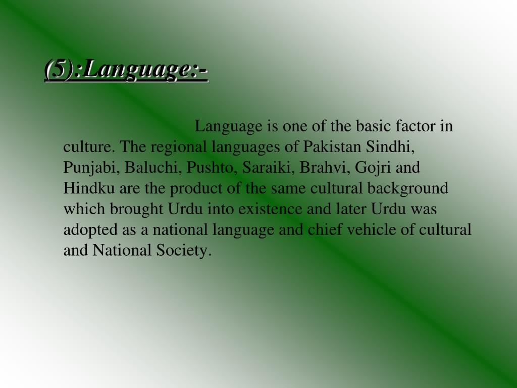PPT - The Culture Of Pakistan PowerPoint Presentation - ID