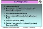 isap programmes