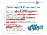 creating hr communities