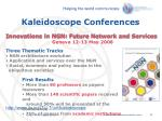 kaleidoscope conferences