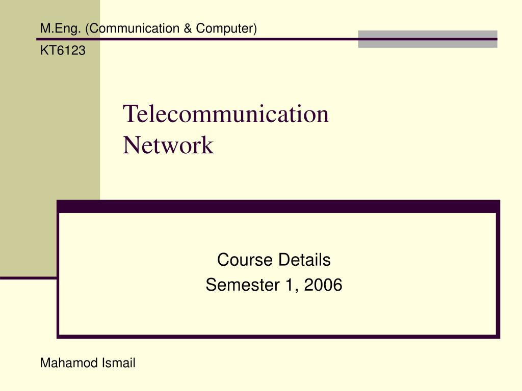 telecommunication network l.