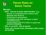 parent roles on select teams17
