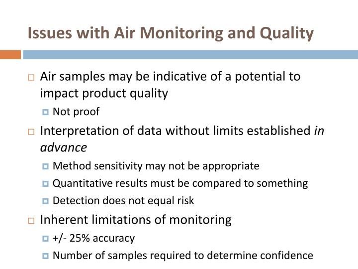 Issues with Air Monitoring and Quality
