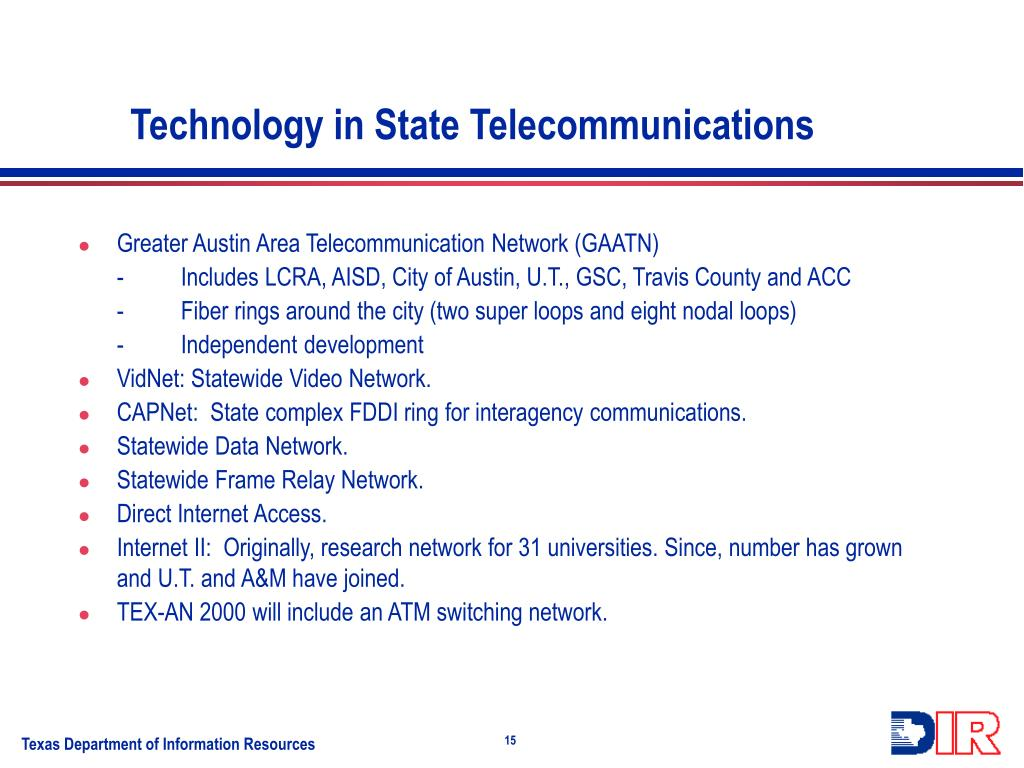 Technology in State Telecommunications