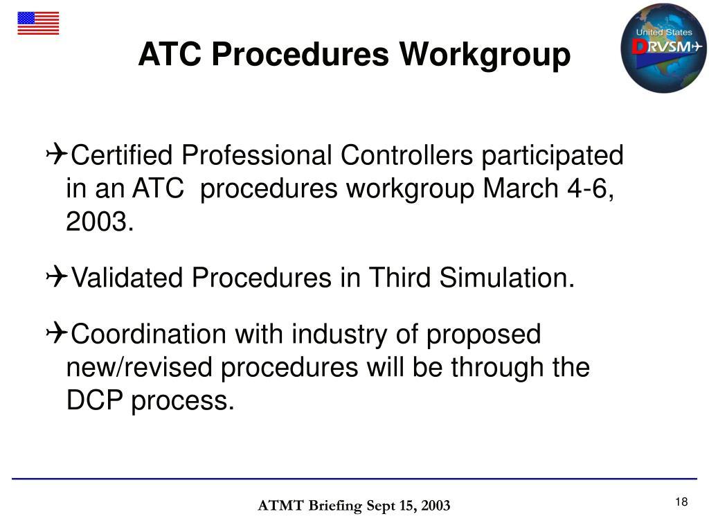 ATC Procedures Workgroup