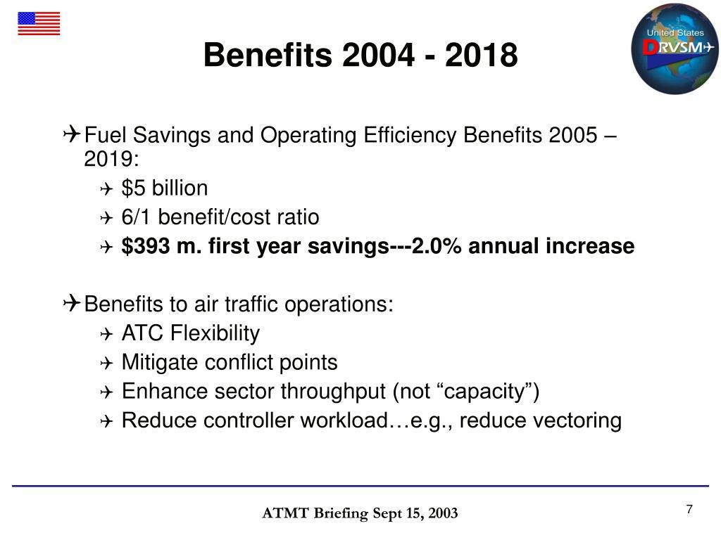 Benefits 2004 - 2018