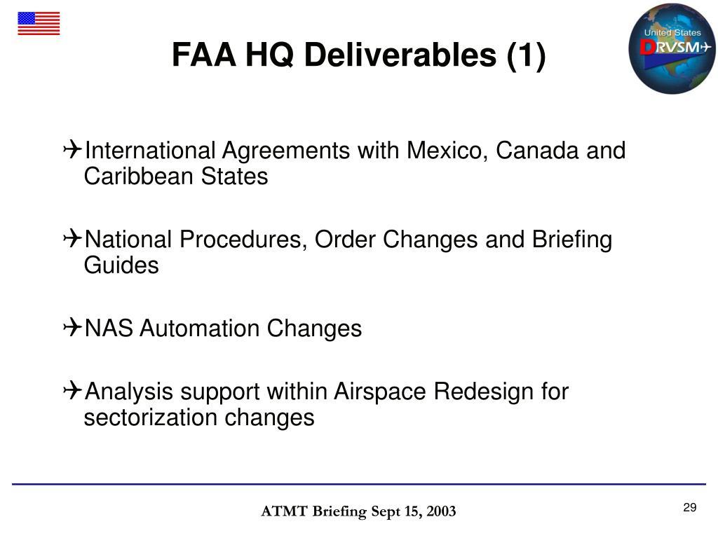 FAA HQ Deliverables (1)