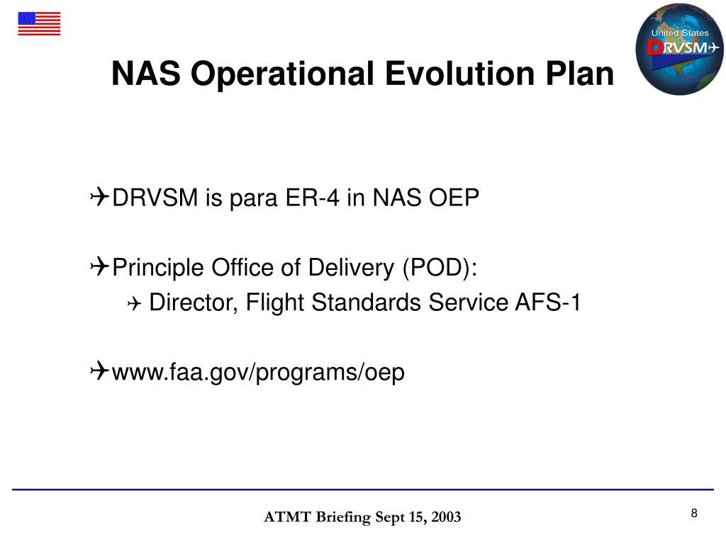 NAS Operational Evolution Plan