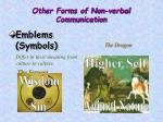 other forms of non verbal communication