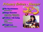 primary drives hunger