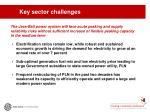 key sector challenges