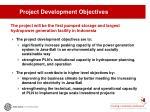 project development objectives