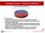 strategic context project contribution
