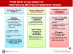 world bank group support to indonesia geothermal development program